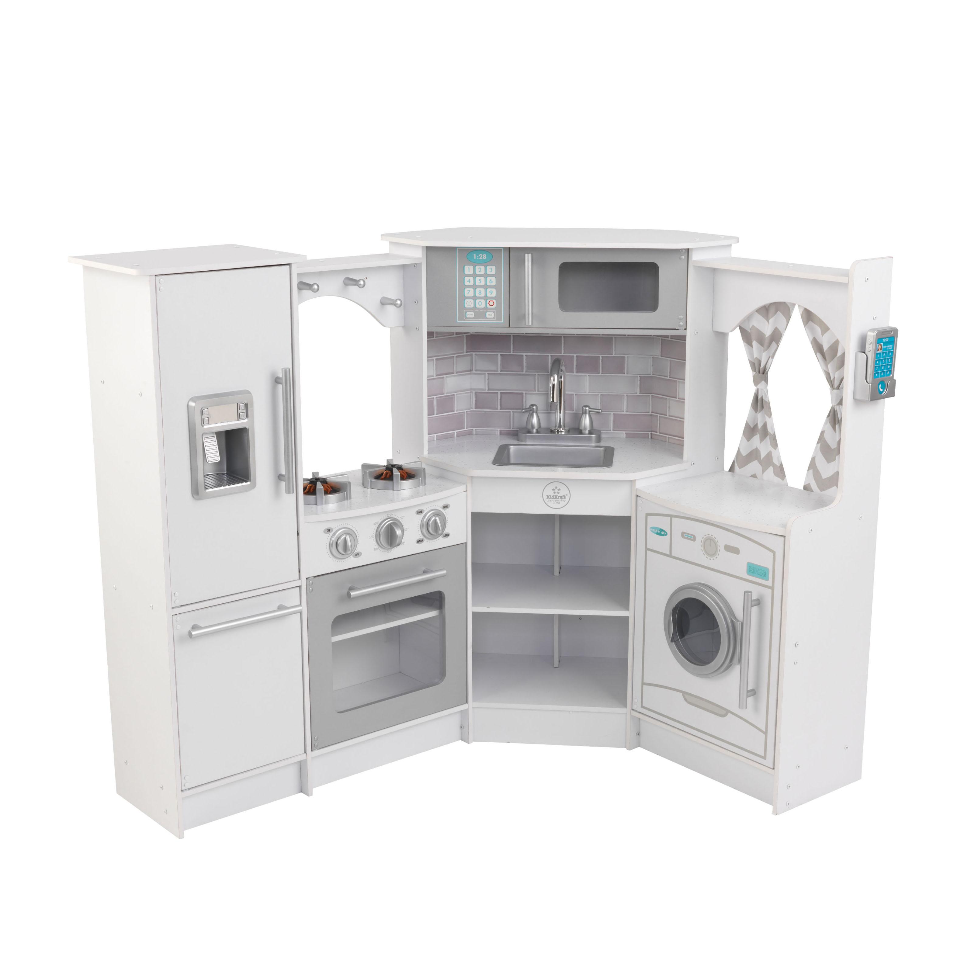Купить Кухня Белый-Интерактив угловая KidKraft 53386_KE, Детская кухня