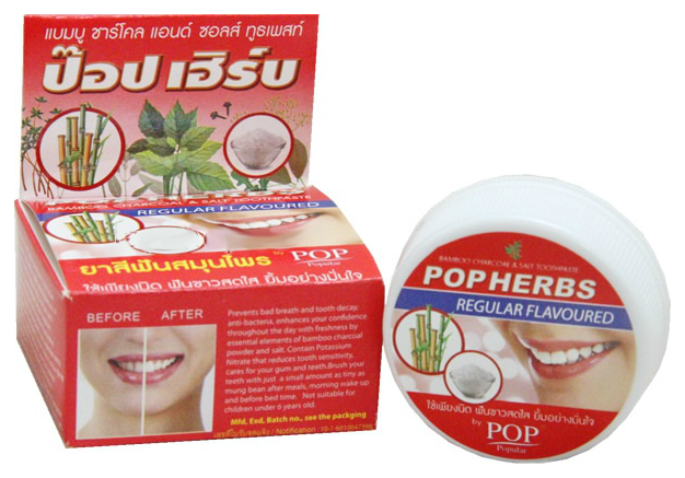 Зубная паста POP Herbs С бамбуковым углем и солью 30 г