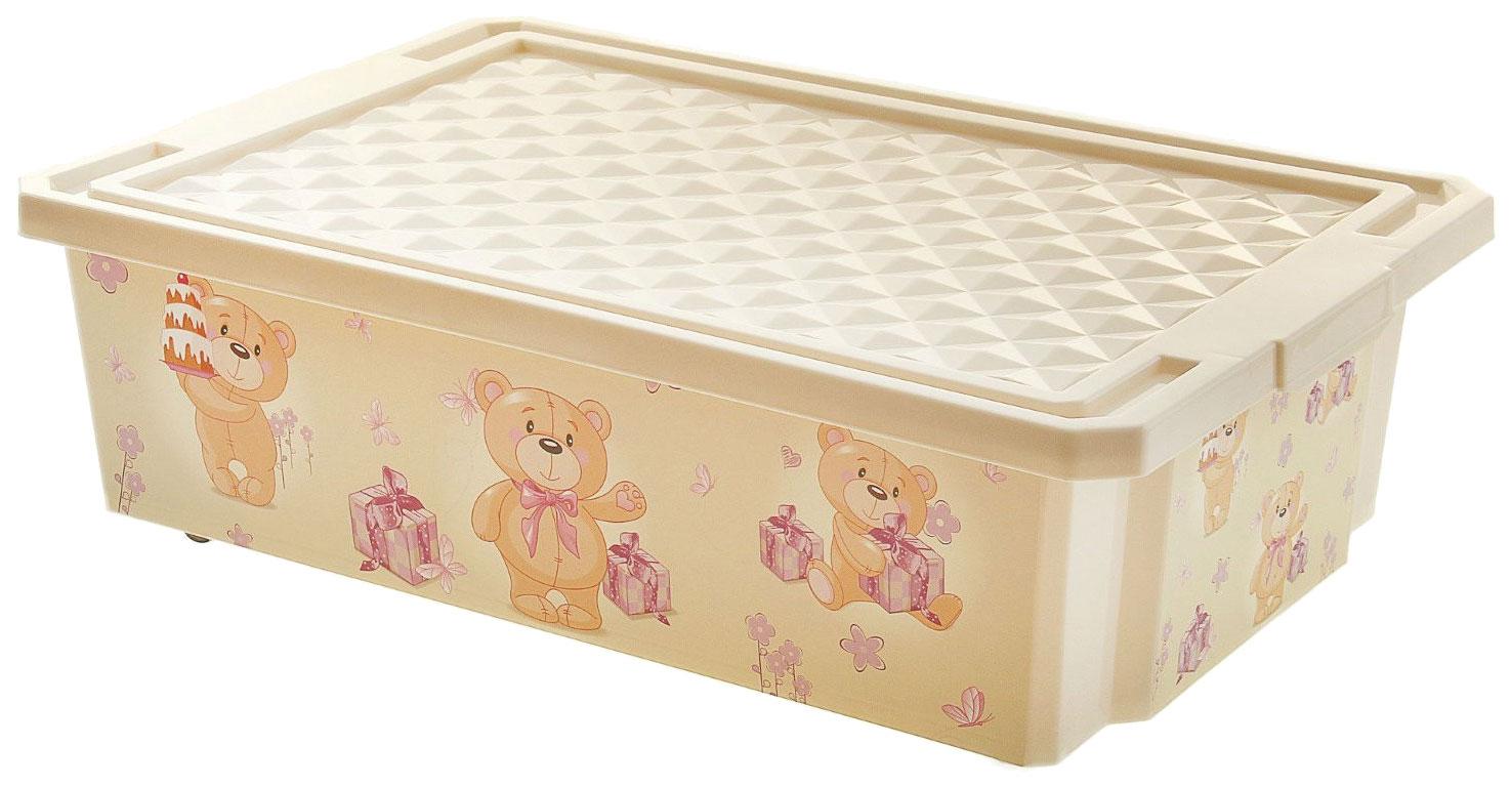 Детский ящик Little Angel для хранения игрушек X-BO Bears 30 л