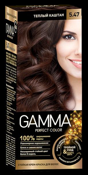 Купить Краска для волос SVOBODA GAMMA Perfect color тёплый каштан 5, 47, 50гр