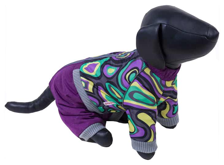 Комбинезон для собак Зоо Фортуна размер M женский, фиолетовый, длина спины 27 см