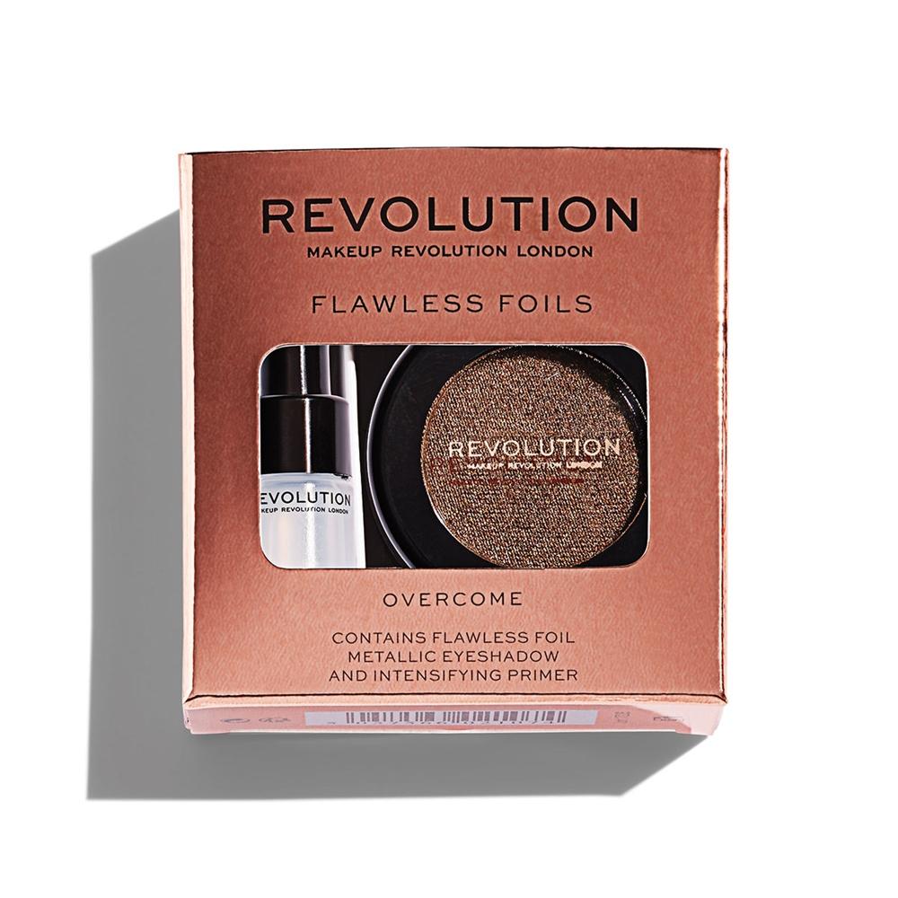 Праймер + тени для век Makeup Revolution Flawless Foils, Overcome