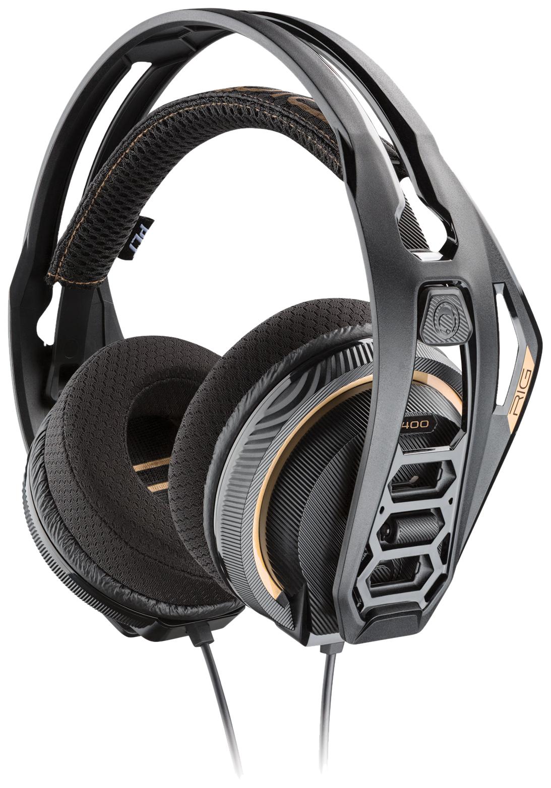 Игровые наушники Plantronics RIG 400 Dolby Atmos Black  - купить со скидкой