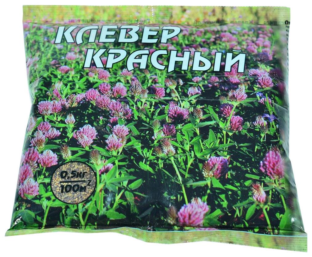 Семена Клевер красный Трубетчинский местный , 0,5 кг Зеленый ковер