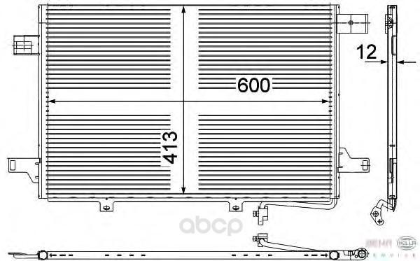 Радиатор кондиционера Hella 8FC351303 431