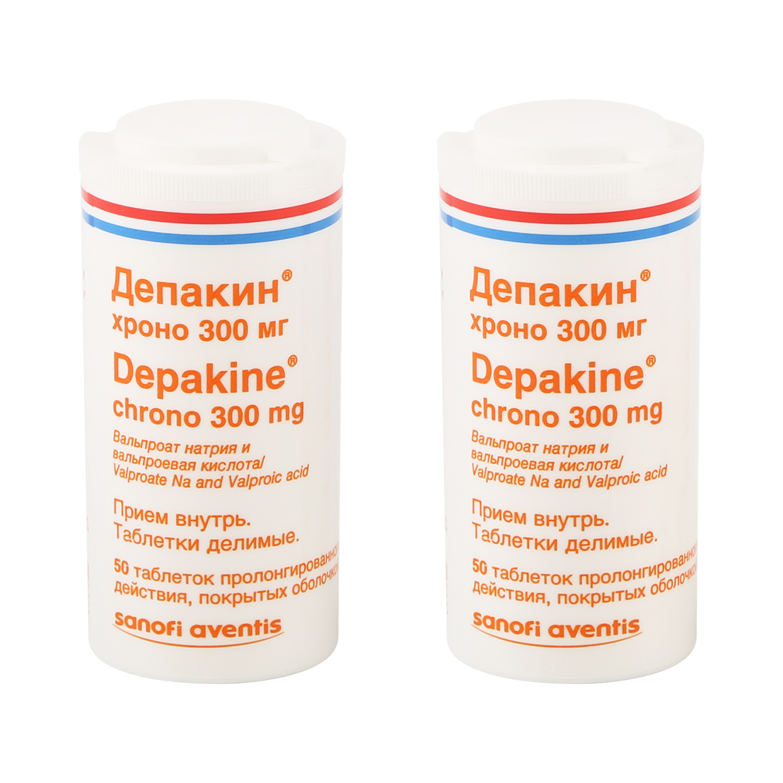 Депакин хроно таблетки 300 мг 100 шт.
