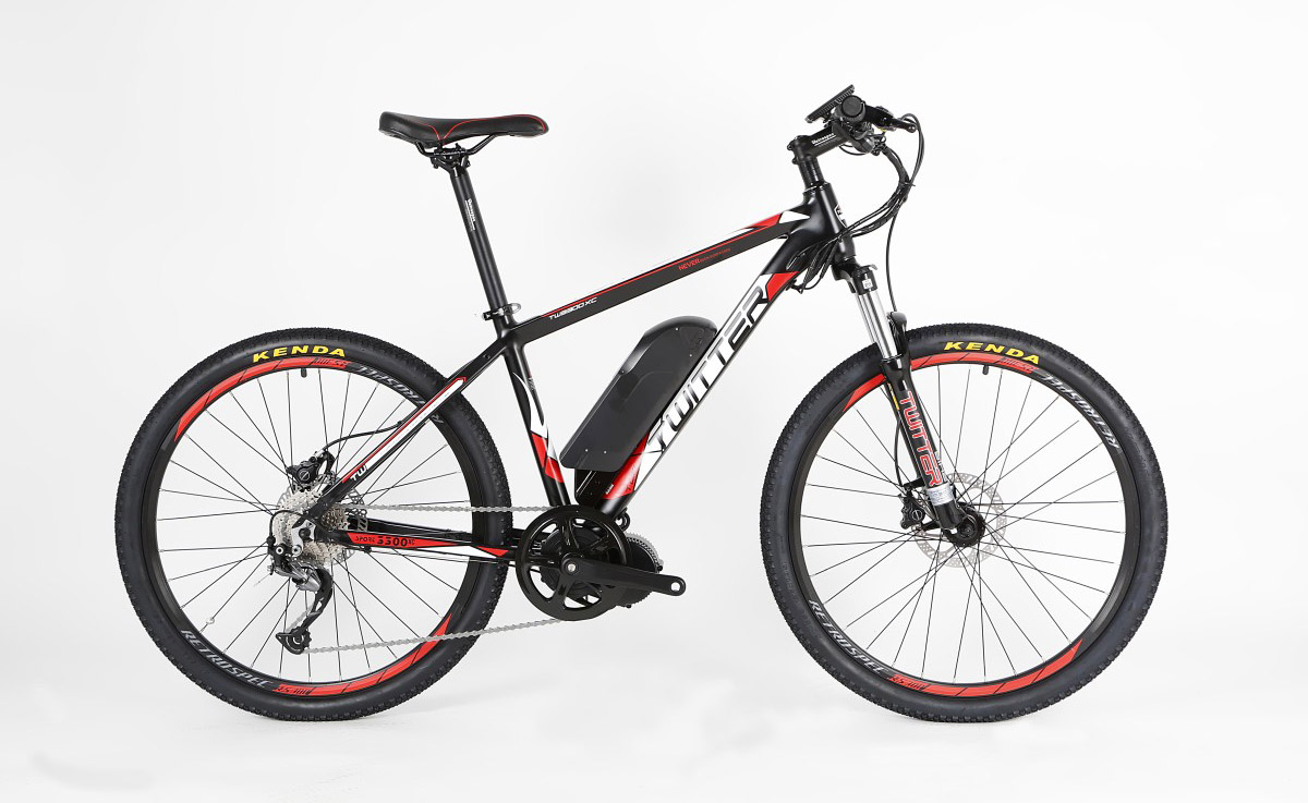 Электровелосипед Twitter TW-E9L бело-красный