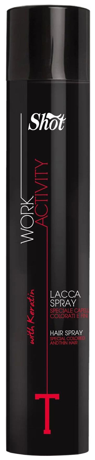 Лак для волос Shot Hair Spray Extra Strong Work Activity Y 490 мл