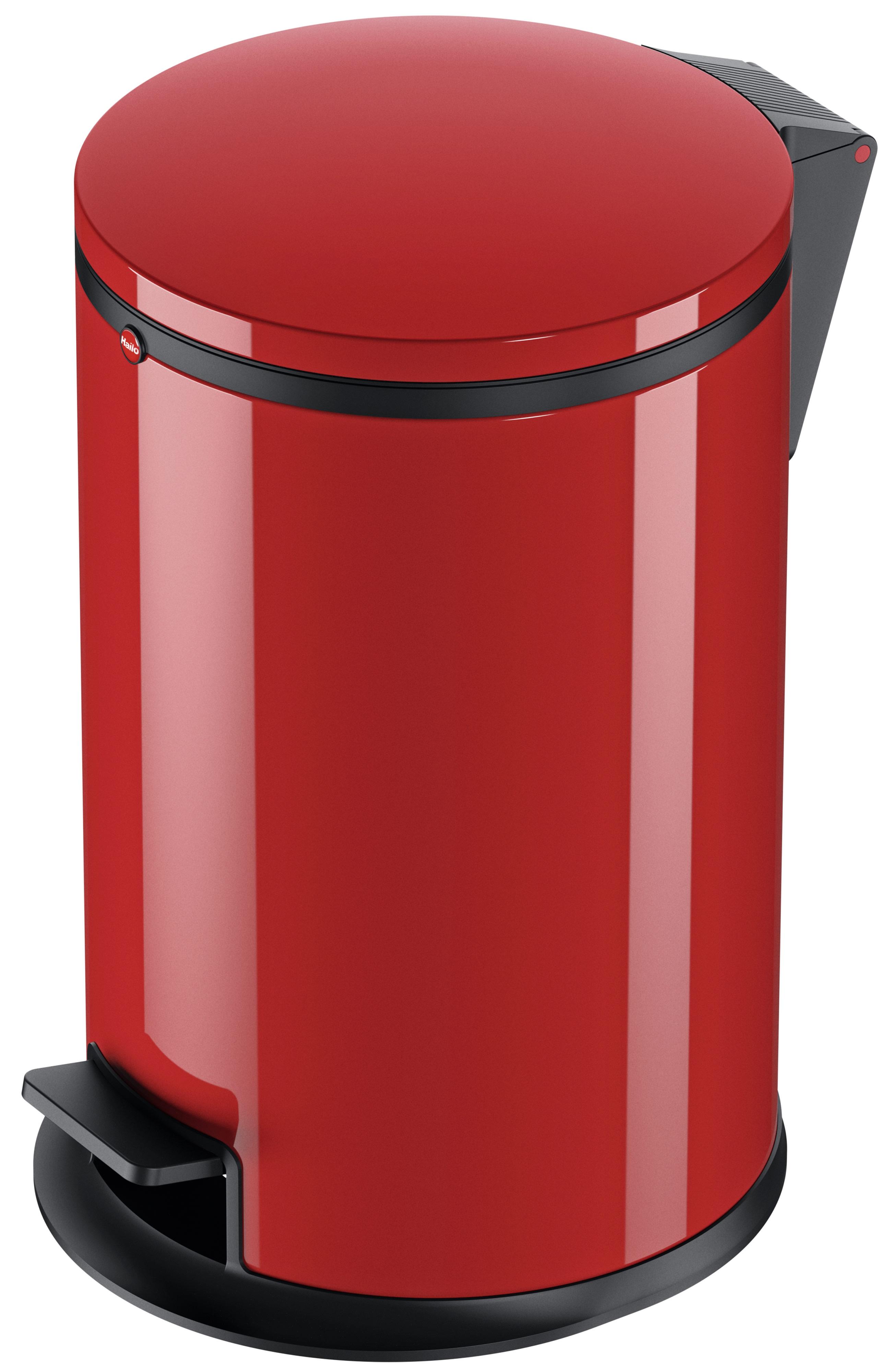 Мусорный контейнер Hailo Pure M 12л., красный,