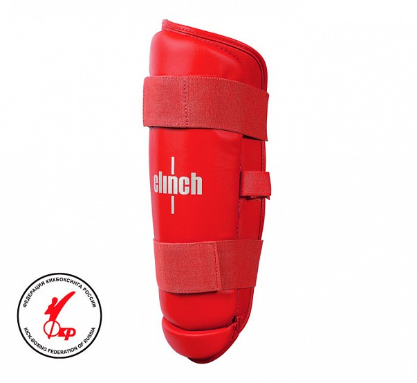 Защита голени Clinch Shin Guard Kick красная