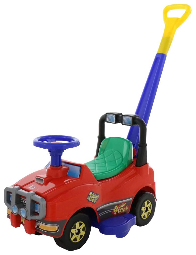 Купить Каталка детская Molto Автомобиль Molto с ручкой красный 6780, Каталки детские