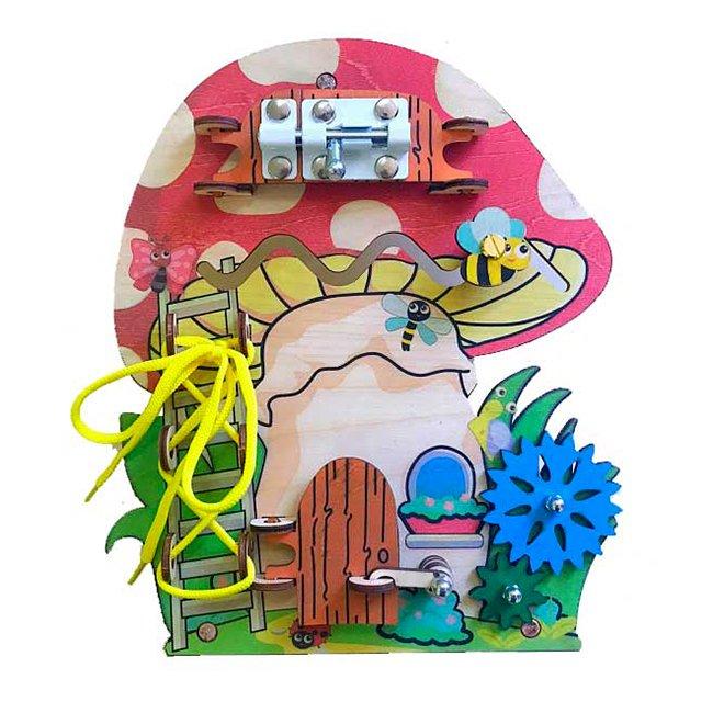Развивающая игрушка Бизиборд Большой слон Бизи гриб