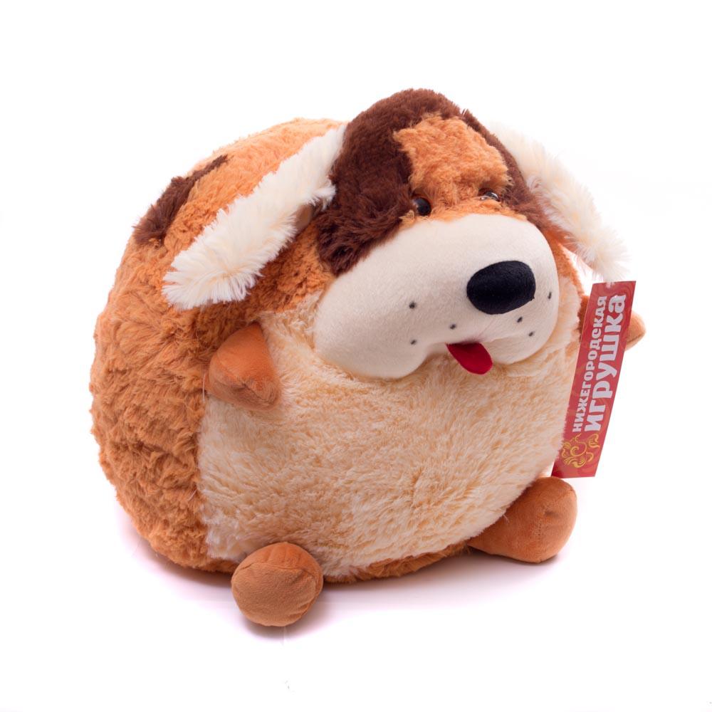 Купить Мягкая игрушка Собака круглая 35 см Нижегородская игрушка См-712-5, Мягкие игрушки животные