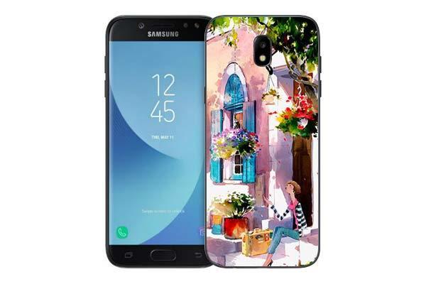 Чехол Gosso Cases для Samsung Galaxy J5 (2017) J530 «Девочка на цветущей улочке»