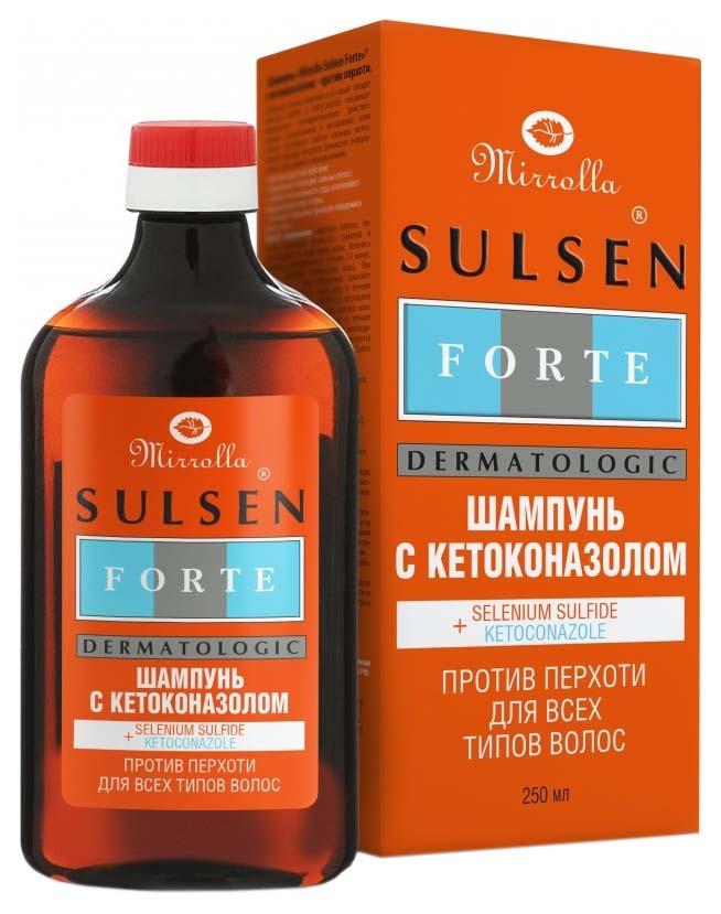 Шампунь Mirrolla Sulsen Forte с кетоконазолом
