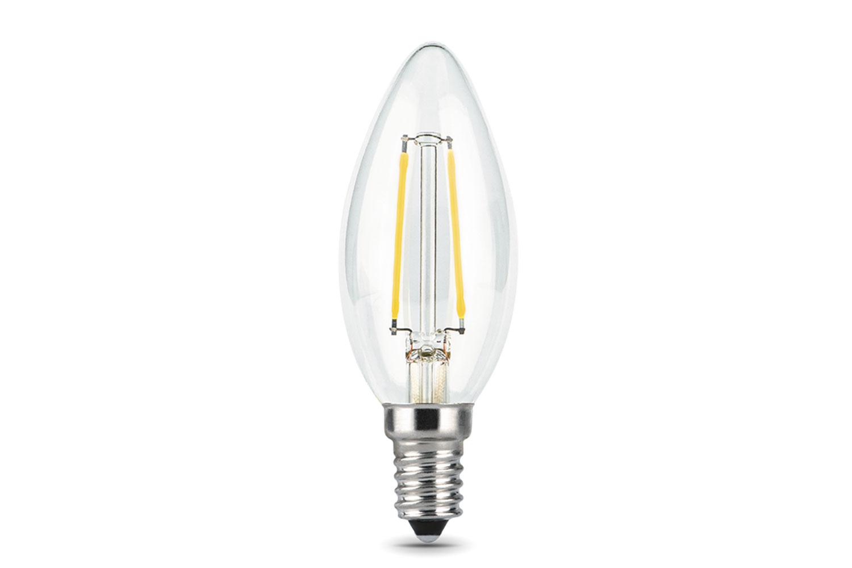 Лампа светодиодная Gauss Filament E14 11W (720lm) 2700K, прозрачная, нитевидная, 103801111