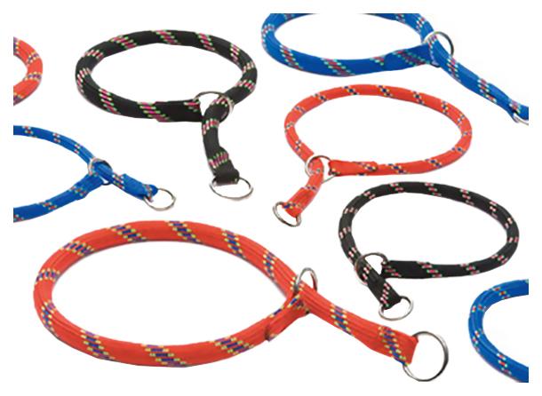 Ошейник-удавка для собак Beeztees, нейлон, черный, 55см х 13мм