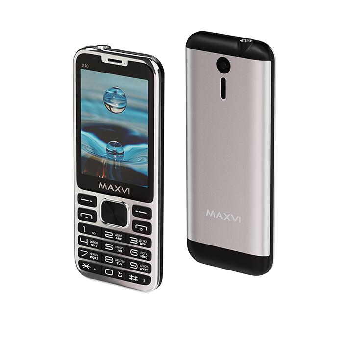 Мобильный телефон Maxvi X10 Metallic Silver фото