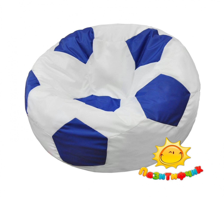 Кресло-мяч Pazitif Мяч Пазитифчик, размер L, оксфорд, бело-синий фото