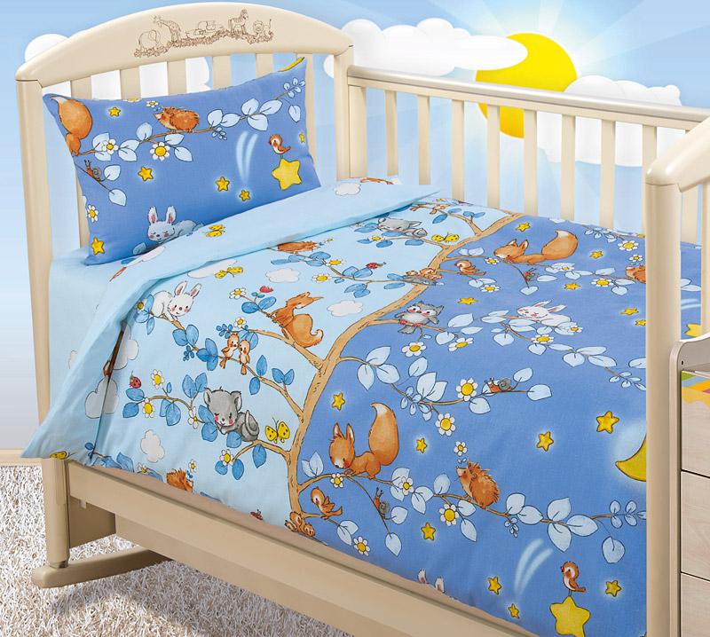 Купить ЭКО, Постельное белье Текс-Дизайн День и ночь ясельное из Бязи, Комплекты детского постельного белья
