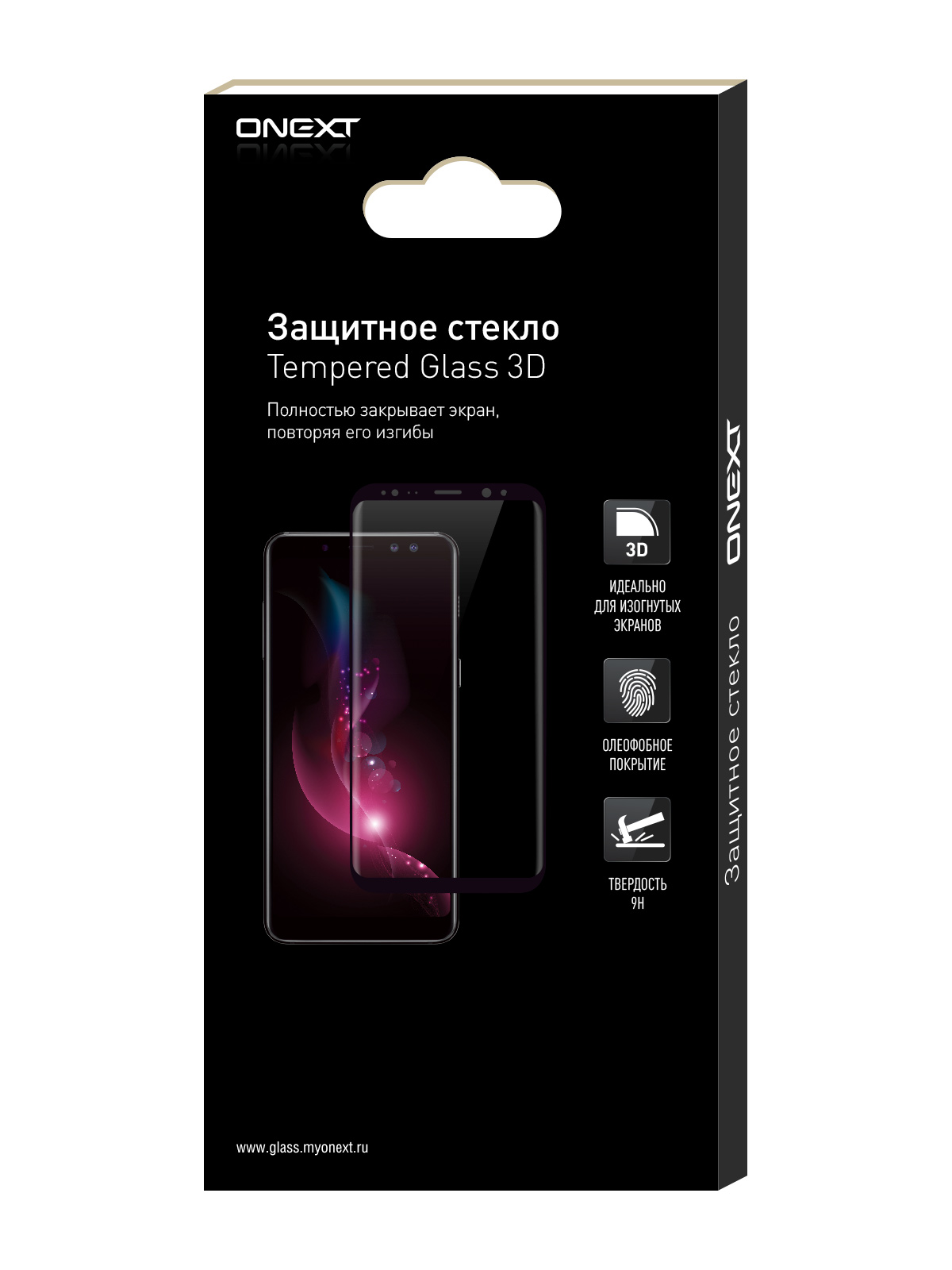 Защитное стекло ONEXT для Samsung Galaxy S6 Edge Plus Black