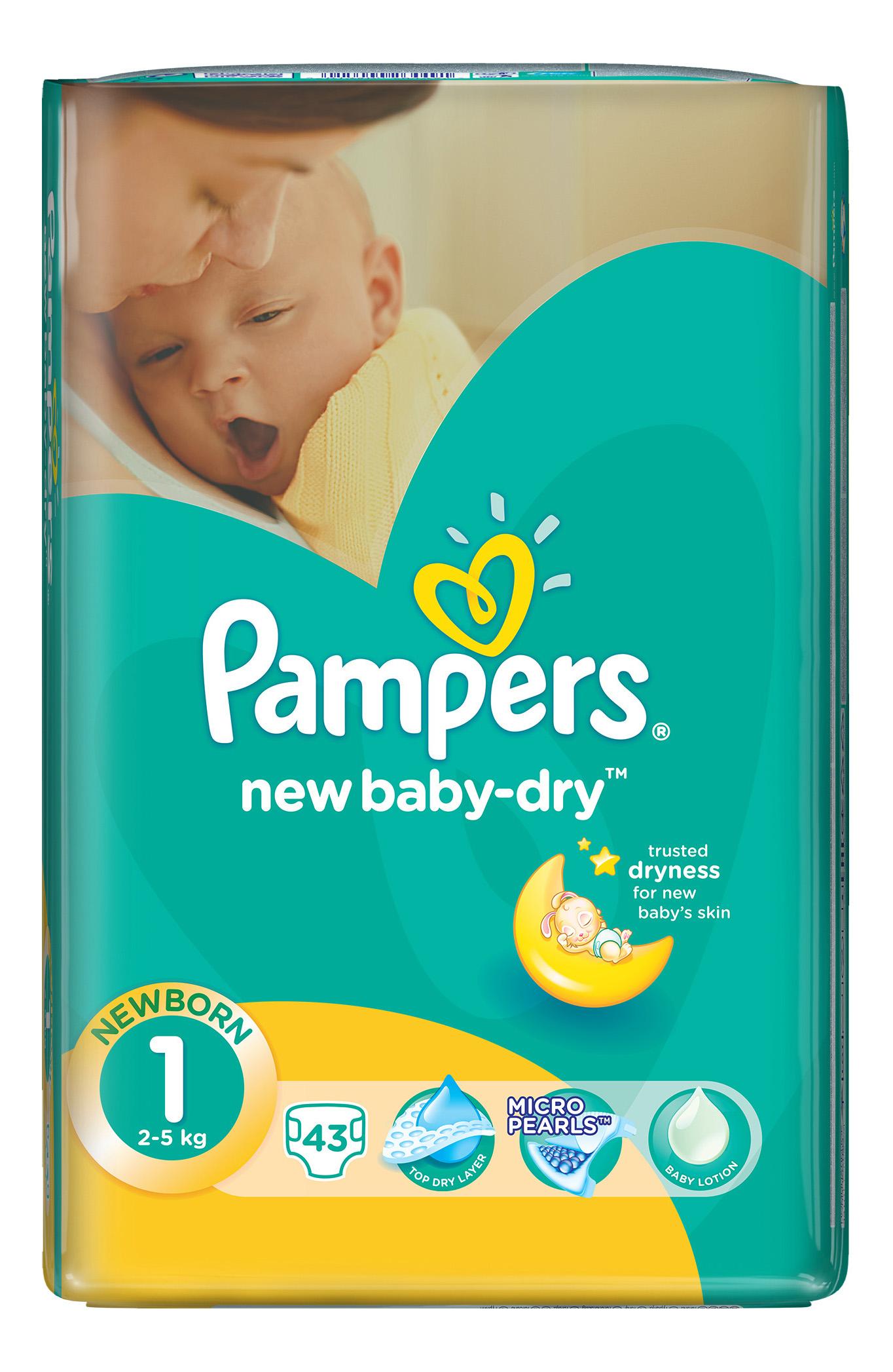Подгузники для новорожденных Pampers New Baby