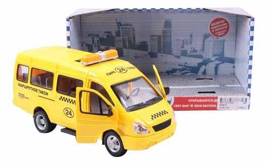 Купить Автопарк Play Smart со светом и звуком. Газель 3221 Такси 23 см, PLAYSMART, Городской транспорт