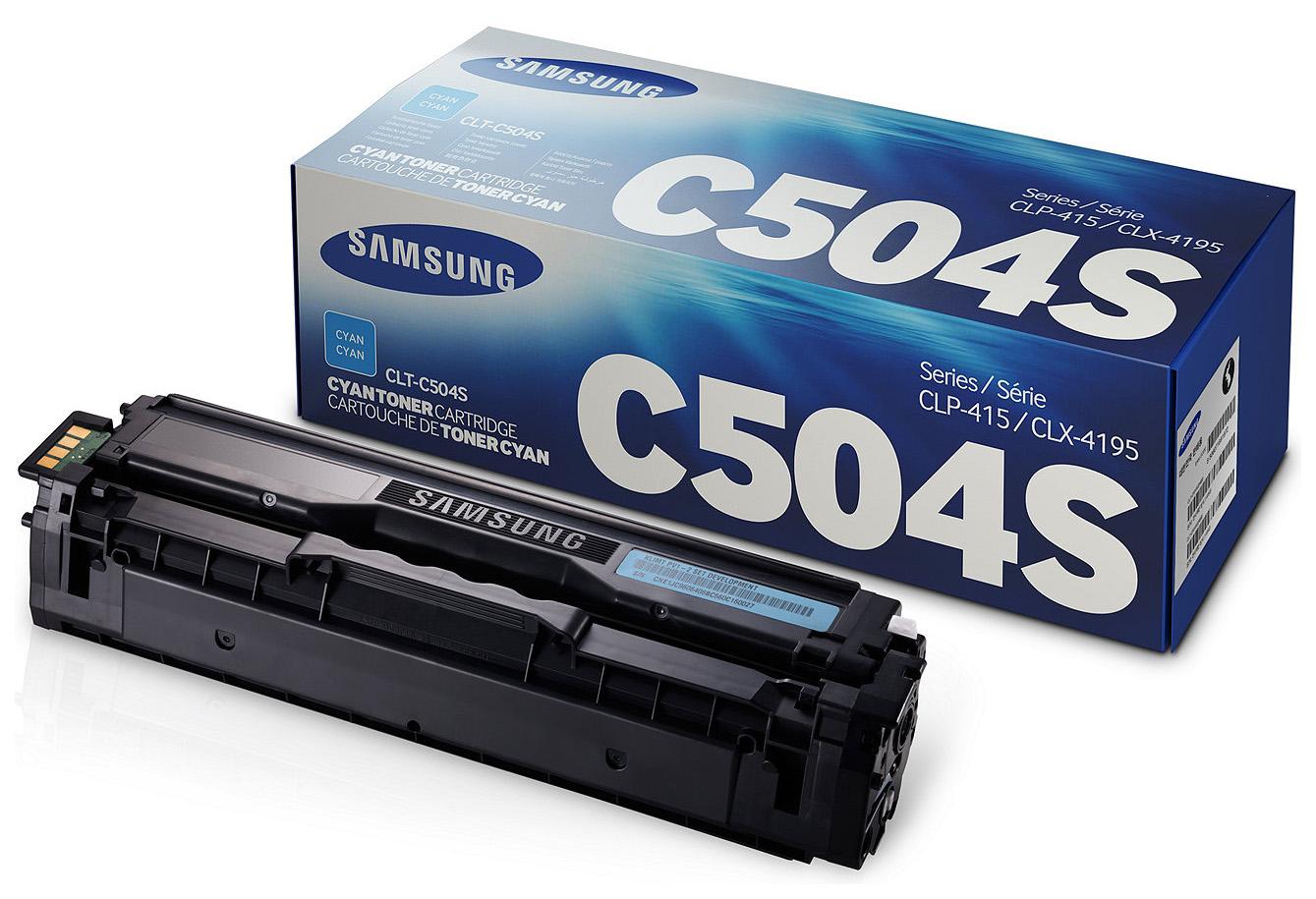 Картридж для лазерного принтера Samsung CLT-C504S, голубой, оригинал CLT-C504S по цене 6 550