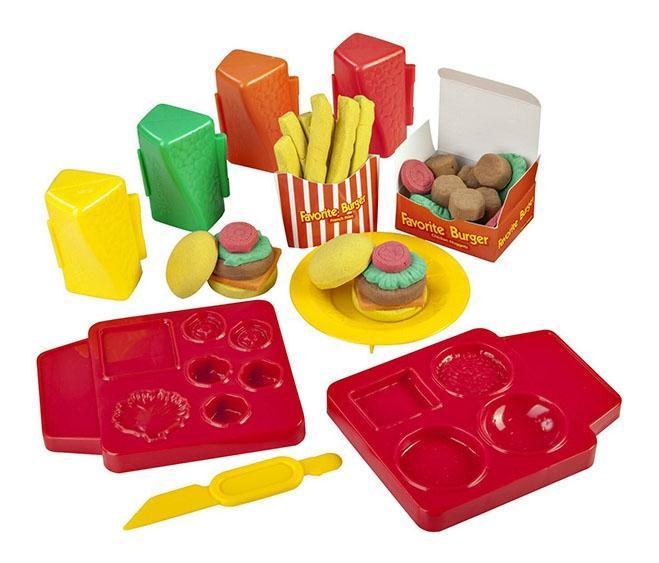 Skwooshi s30021 набор для творчества бургер - масса для лепки и аксессуары фото