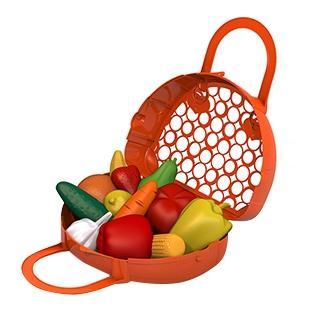 Купить Фрукты, овощи, Набор НОРДПЛАСТ фрукты, овощи 12 предметов в сумке-корзинке, Игрушечные продукты