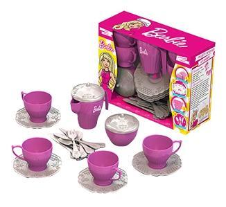 Подарочный набор дет,посуды чайный сервиз Barbie, 24 предмета в кор, с окошком фото