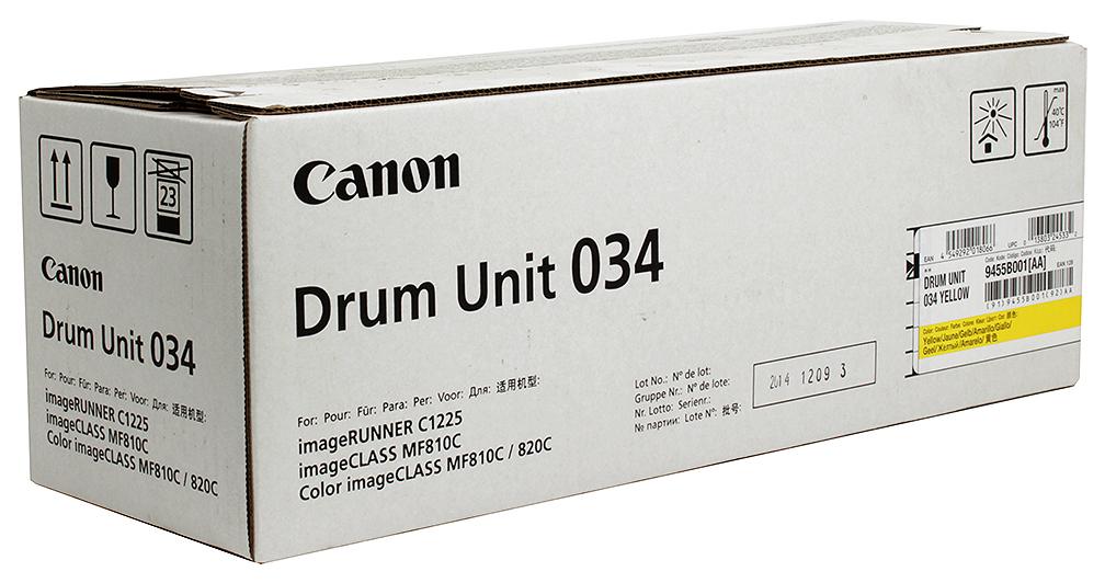 Фотобарабан Canon C EXV034Y Желтый