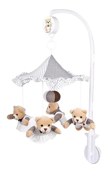 картинка Музыкальная мягкая карусель Canpol Babies Мишки под зонтиком от магазина Bebikam.ru