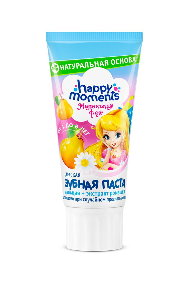 Купить Детская зубная паста Маленькая Фея Happy Moments Волшебный фрукт , 60 мл, Детские зубные пасты