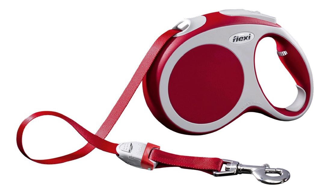 Рулетка-поводок FLEXI Vario L до 60 кг лента, 5м, красная