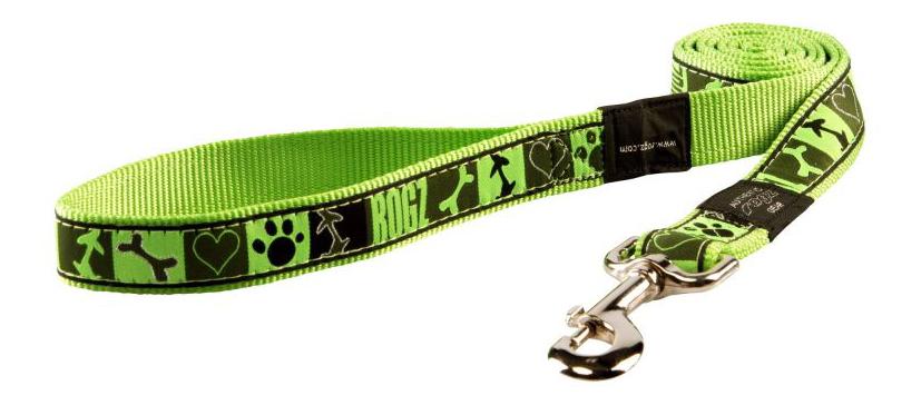 Поводок для собак Rogz Fancy Dress XL-25мм 1,2 м (Кости на черном HL02CF)