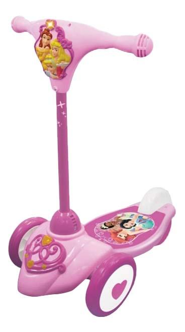 Самокат трехколесный KiddieLand Принцесса KID 045575 розовый