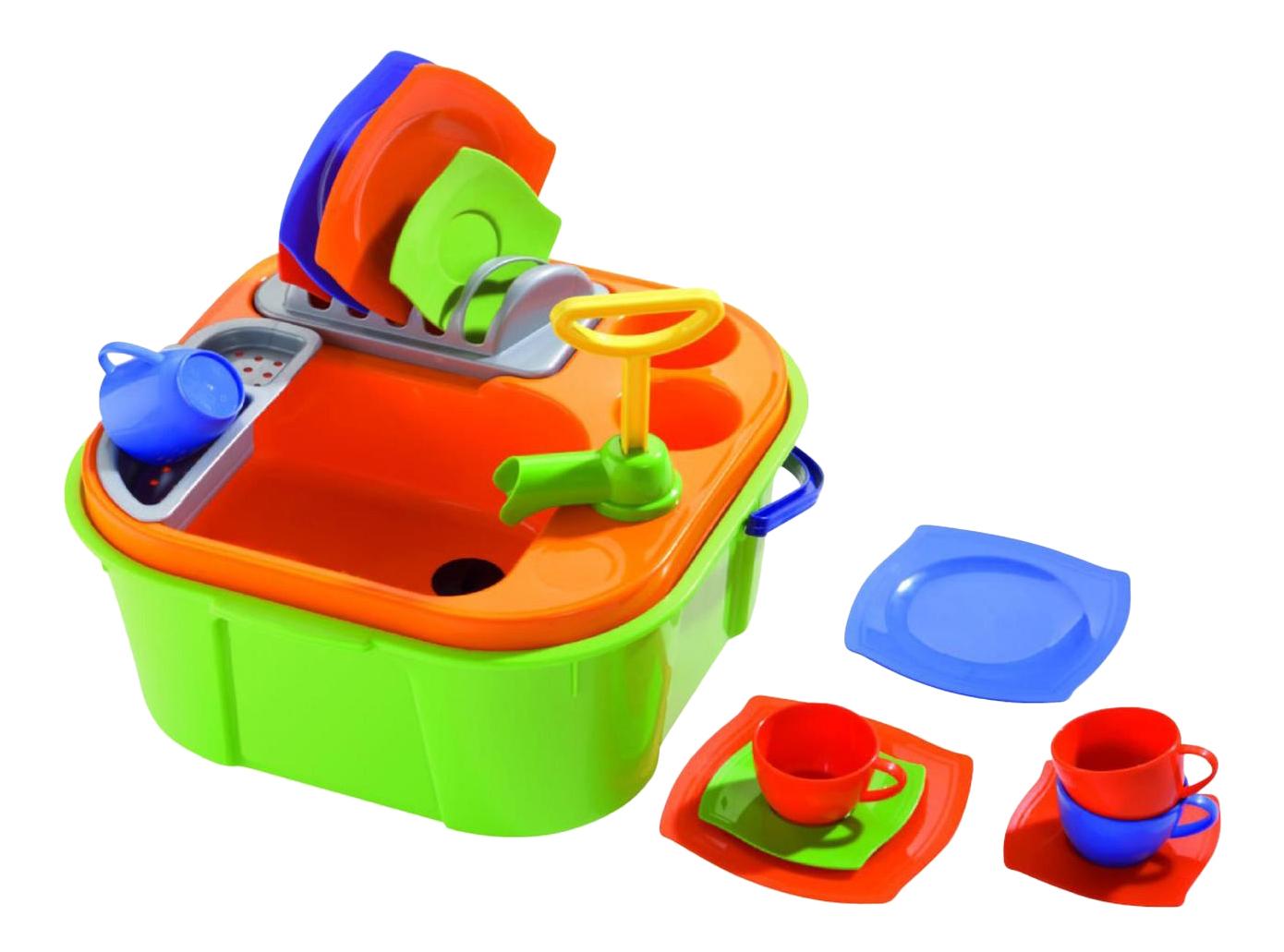 Купить Набор посуды игрушечный Полесье Мини-Посудомойка, Детская кухня и аксессуары