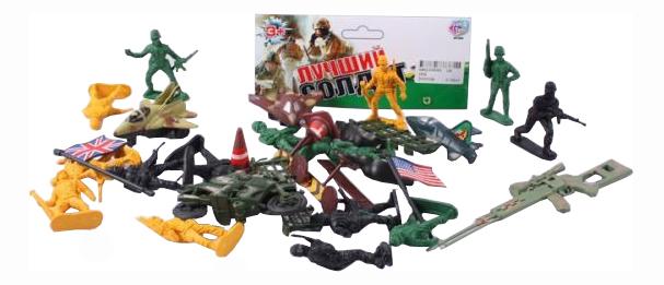Купить Военный набор с солдатиками и аксессуарами, Игровой набор Play Smart Военный С Солдатиками И Аксессуарами 3034 18См, PLAYSMART, Игровые наборы