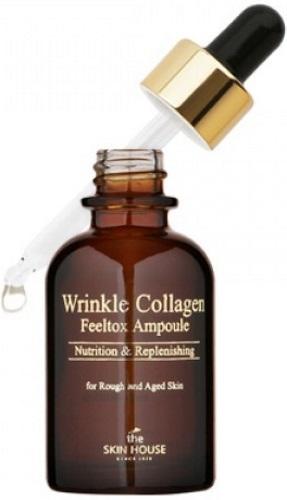 Сыворотка ампульная с коллагеном THE SKIN HOUSE Wrinkle Collagen Feeltox, 30 мл