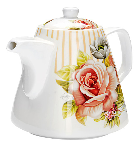 Заварочный чайник LORAINE Цветы 1,1 л