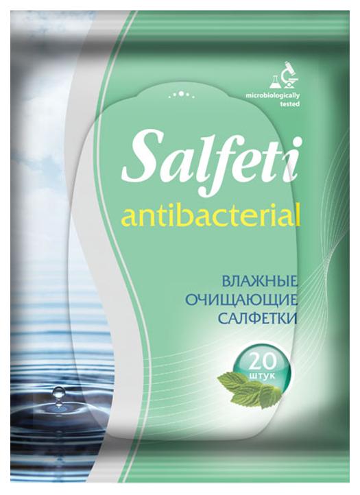 Влажные салфетки Salfeti Antibacterial 20 шт фото