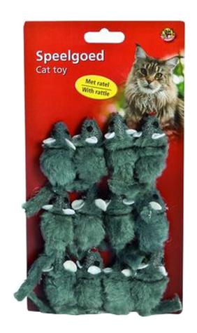 Погремушка для кошек Beeztees искусственный мех 5см 12 шт.