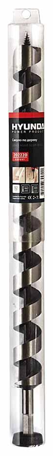 Сверло по дереву Hyundai спиральное 32х460/400mm (5/15)