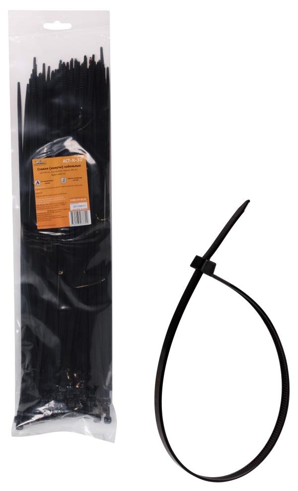 Стяжки (хомуты) AIRLINE кабельные 4,8*400 мм, пластиковые, черные, 100 шт.