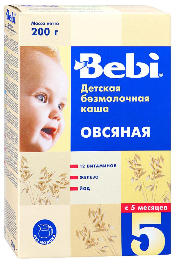 Купить Овсяная 200 г, Безмолочная каша Bebi Овсяная с 5 мес 200 г, Детские каши