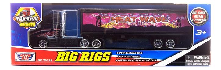 Коллекционная модель MotorMax Big Rigs с полуприцепом розовая