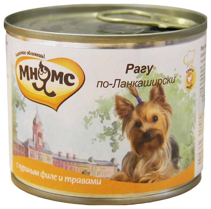 Консервы для собак Мнямс Рагу по-Ланкаширски, куриное филе с травами, 200 г