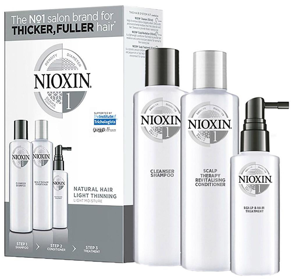 Подарочный набор Nioxin System 1 150 мл+150 мл+50