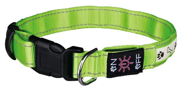 Ошейник для собак TRIXIE USB Flash Collar S светящийся 69 грамм зеленый 13075